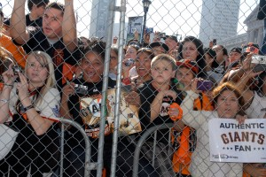 San Francisco Giants fans at the World Series Parade and Celebration 2010