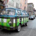 cool VW van with eyelid