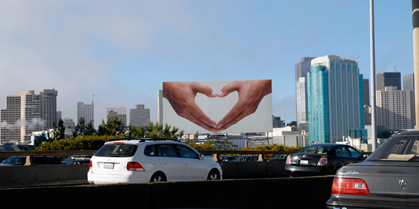 Heart Hands billboard