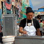 Namu Chef Dennis Lee Cooking at SF Street Food Festival
