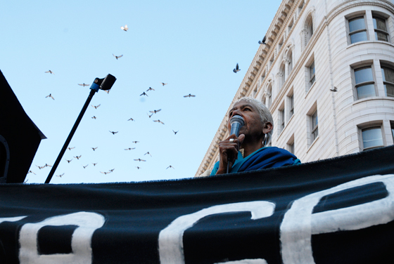 Ericka Huggins speaks at Occupy Oakland General Strike