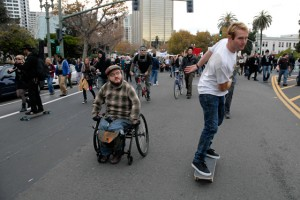 Wheelchair and Skateboard