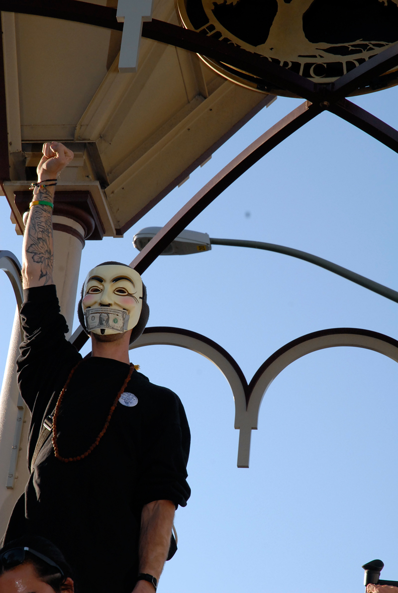 Anonymous Mask - Money Covering Mouth