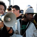 Boots Riley at Port of Oakland during Occupy Oakland General Strike on November 2 2011
