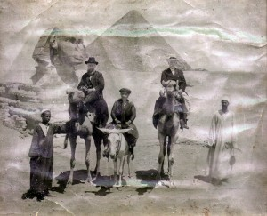 Ancestors in front of the Sphinx and Great Pyramid