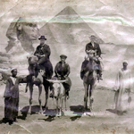 My Ancestors in Egypt in front of the Sphinx and Great Pyramid