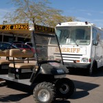 Sheriff Joe Arpaio golfcart and bus