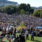Dolores Park crowd at Dyke March