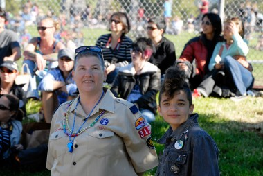 Scout and fauxhawk dyke marchers