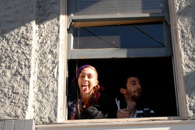 Window Watchers at the Dyke March