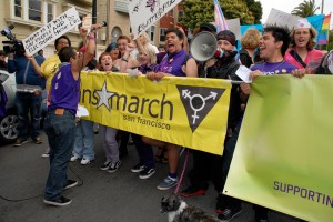Trans March youth