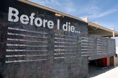 Before I Die by Candy Chang. Photo: Wendy Goodfriend