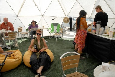 Ben in Illumination Village dome. Photo: Wendy Goodfriend