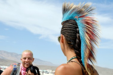 colorful mohawk. Photo: Wendy Goodfriend