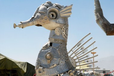 Seahorse made from metal kitchen items El Pulpo Mechanico. Photo: Wendy Goodfriend