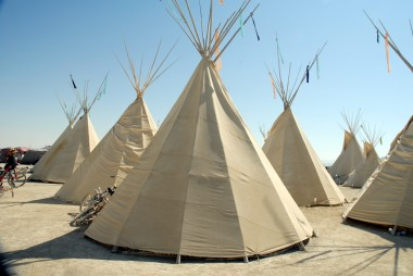 Teepees. Photo: Wendy Goodfriend