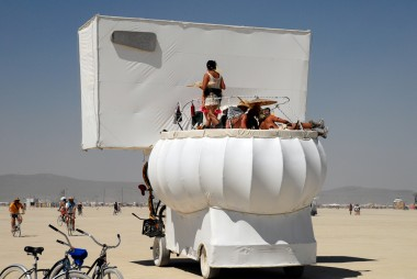 Toiletbowl art car. Photo: Wendy Goodfriend