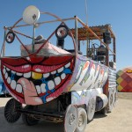 tongue-face artcar. Photo: Wendy Goodfriend