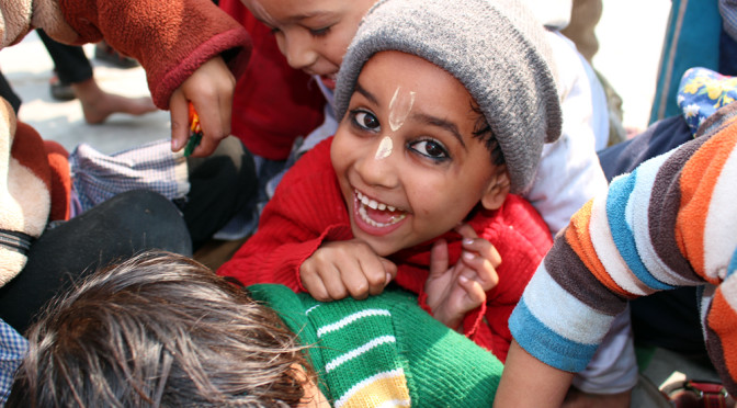 Kids in India at Food for Life