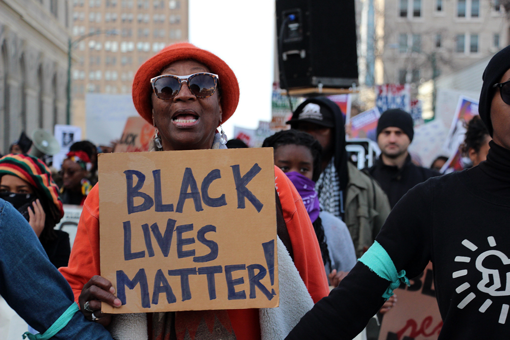 Black Lives Matter at Millions March Oakland. Photo: Wendy Goodfriend