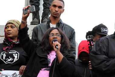 Wanda Johnson, Oscar Grant's mother at Millions March Oakland. Photo: Wendy Goodfriend