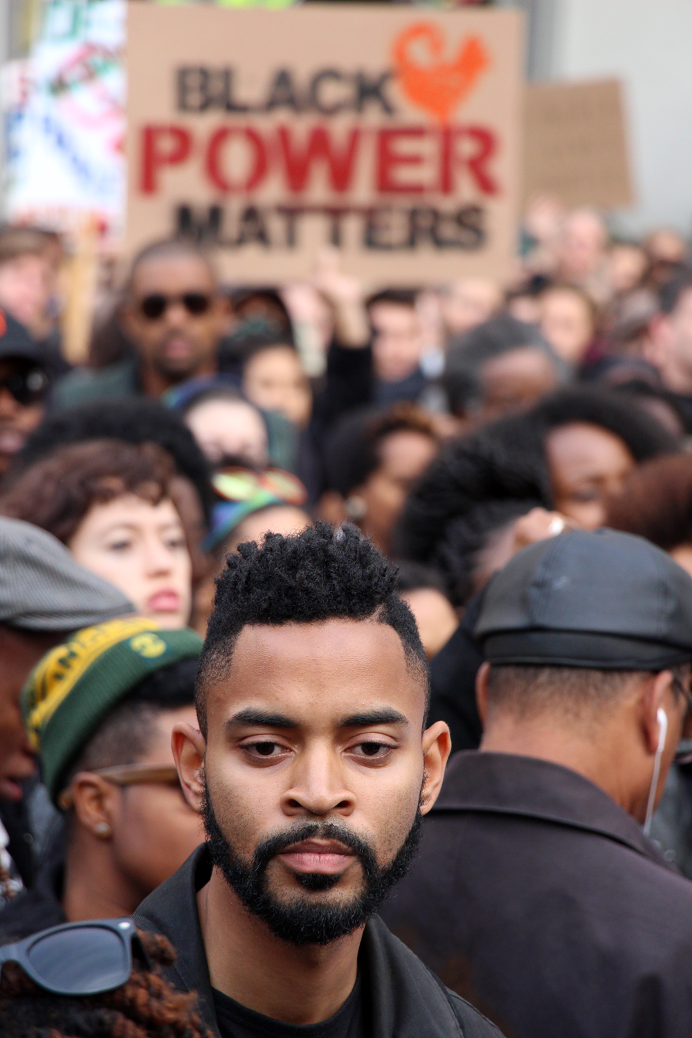 Zachary Xavier Murray at Millions March Oakland. Photo: Wendy Goodfriend